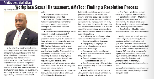 Sexual harassment article